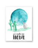 'Howl' Greeting card with envelope