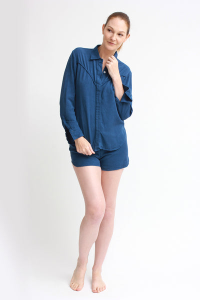 breezy set - shirt & shorts / blue