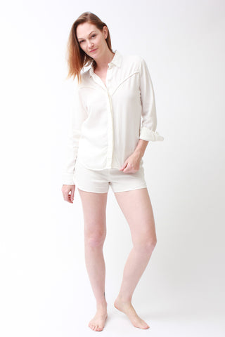 breezy set - shirt & shorts / crisp white