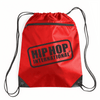 Drawstring Zipper Pocket Backpack - Red/Black
