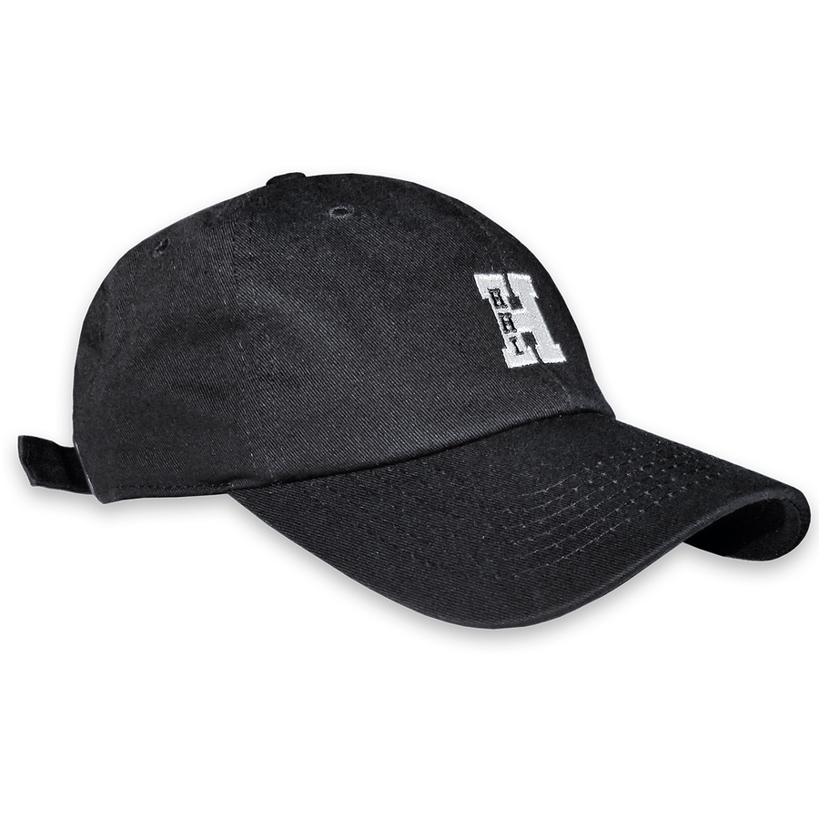 Unisex HHI Strapback Dad Hat - Black/White