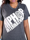 Diagonal Hip Hop International Billboard Unisex Tshirt - Charcoal