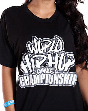 Official World Hip Hop Dance Championship Unisex Tshirt - Black