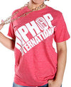 Diagonal Hip Hop International Billboard Unisex Tshirt - Heather Red