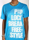 Pop Lock Break Freestyle Unisex Tshirt - Teal
