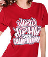 Official World Hip Hop Dance Championship Unisex T-Shirt - Red