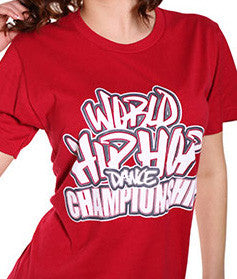 Official World Hip Hop Dance Championship Unisex Tshirt - Red