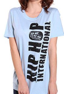 Vertical Hip Hop International Unisex Tshirt - Light Blue
