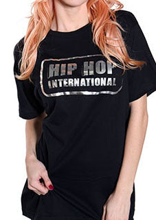 Single Stamp HHI Unisex Tshirt - Black/SilverMetallic