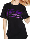 Single Stamp HHI Unisex Tshirt - Black/PurpleMetallic