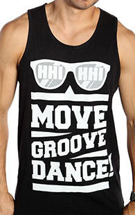Move Groove Dance Unisex Tank - Black/White