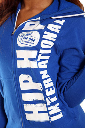 Vertical Hip Hop International Unisex Full Zip Hoody - Blue