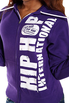 Vertical Hip Hop International Unisex Full Zip Hoody - Purple