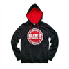 UNISEX 2-TONE OFFICIAL SEAL PULLOVER HOODY  - BLACK/RED