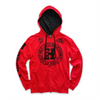 UNISEX 2-TONE NEW VARSITY SEAL PULLOVER HOODY - RED/BLACK