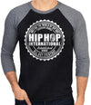 HHI Seal Unisex Baseball Tshirt - Heather Black