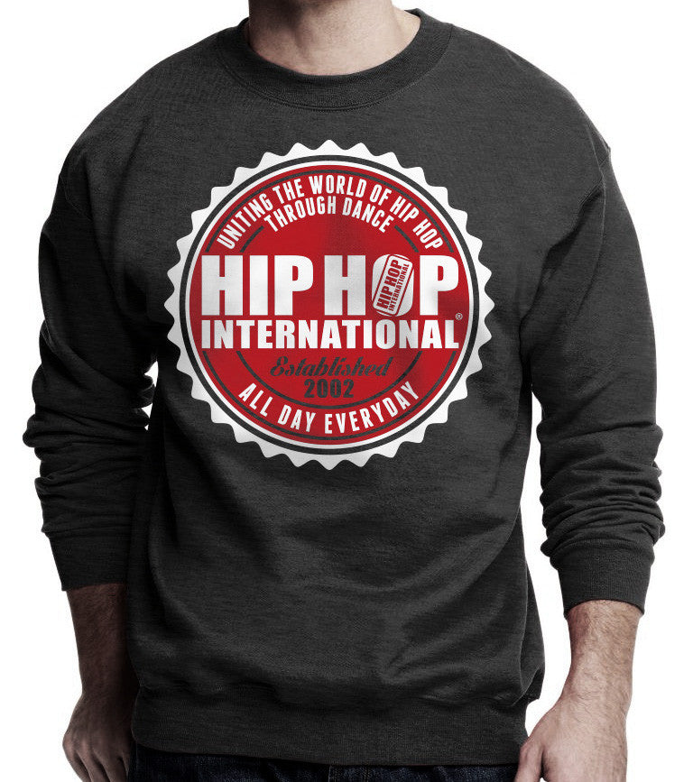 2Tone HHI Seal Unisex Pullover Sweatshirt - Heather Charcoal