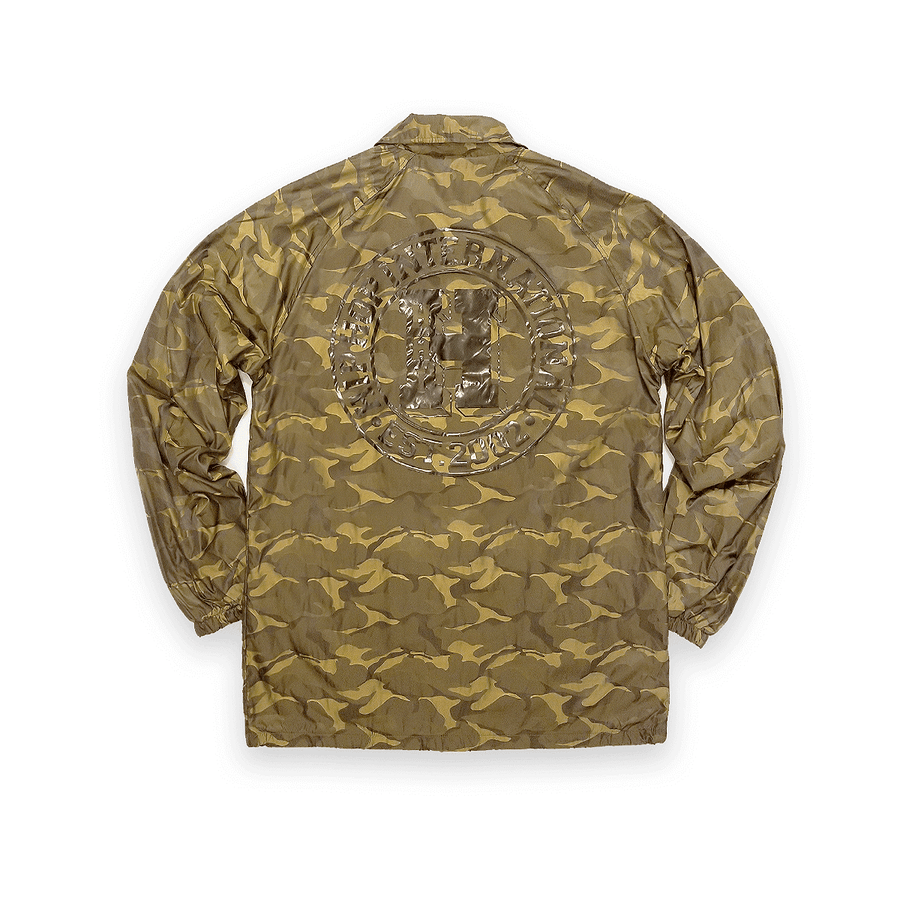 UNISEX NEW H 3D CAMO BUTTON UP COACHES JACKET - GOLD CAMO