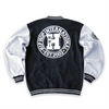 Unisex New Varsity Button Up Fleece Jacket - Black/H.Gray/White