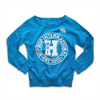 WOMENS FLEECE PULLOVER CREW - NEW VARSITY CIRCLE-BLUE