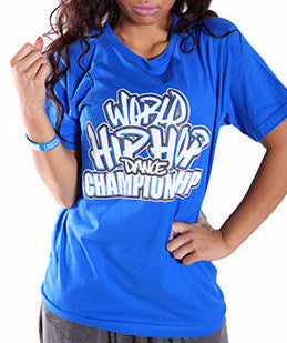 Official World Hip Hop Dance Championship Unisex Tshirt - Blue