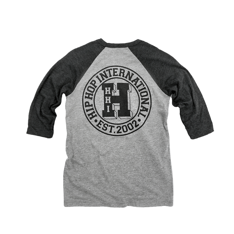 TODDLER NEW VARSITY 'H' 3/4 SLEEVE BASEBALL T-SHIRT - H.GRAY/H.BLACK