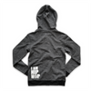 UNISEX FULL ZIP HOODY - DOUBLE TAG + IAMHIPHOP - H.BLACK