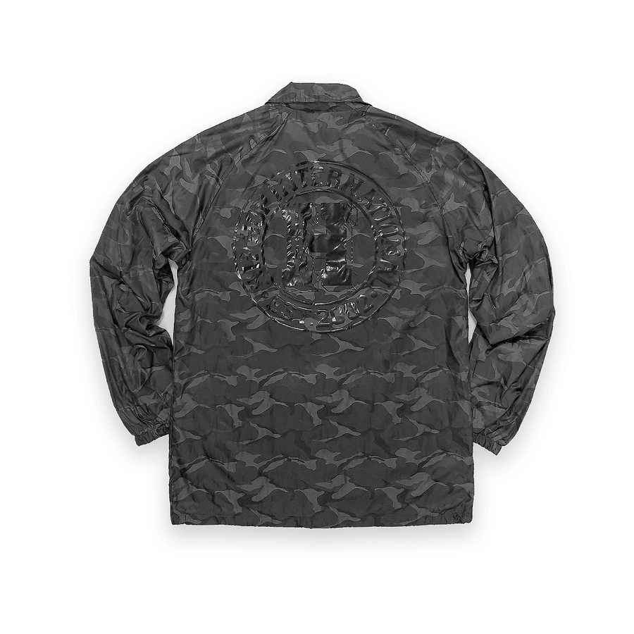 UNISEX NEW H 3D CAMO BUTTON UP COACHES JACKET - BLACKOPS CAMO