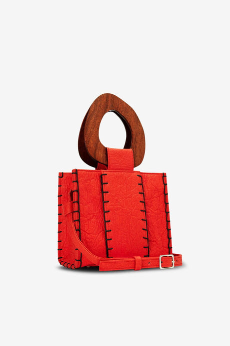 Edun Vegan Red Bibi Bag