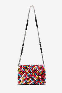 Edun  Multi Beaded Crossbody Bag