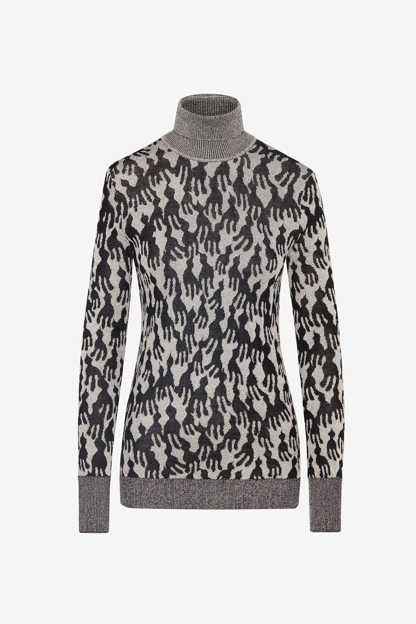 LUREX JACQUARD TURTLENECK