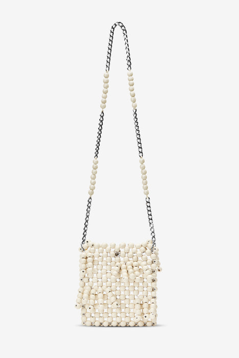 Edun Beaded Fringe Crossbody Bag