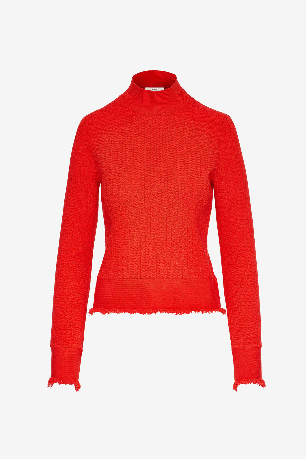 Edun Herringbone Rib Bell Sleeve Sweater