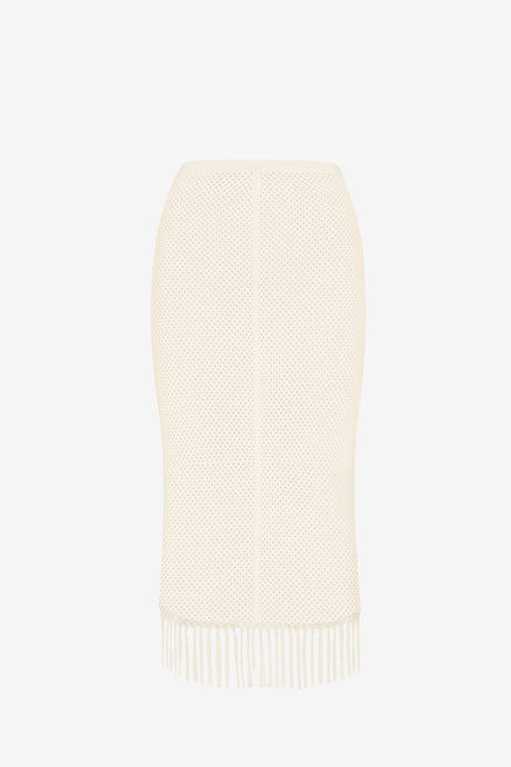 MELANGE TECH MESH DOUBLE LAYER SKIRT