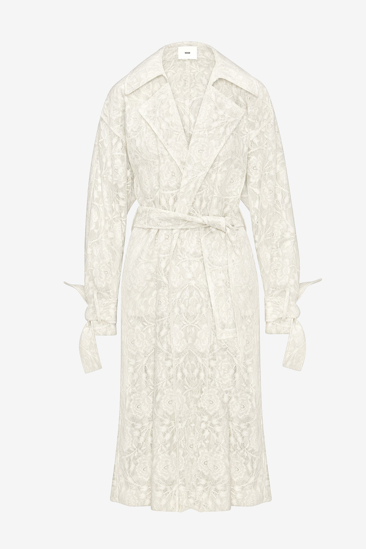 COATED LACE TRENCH COAT