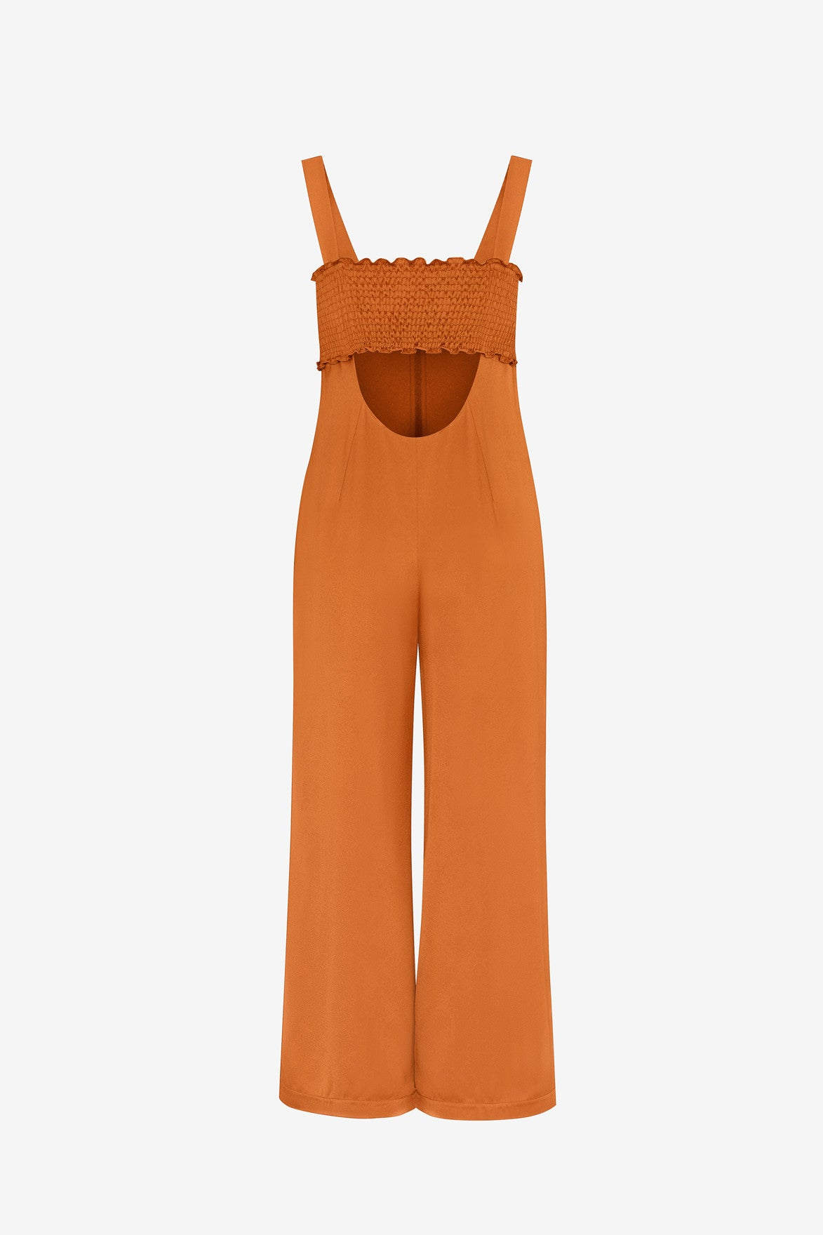 LIQUID SATIN SMOCK JUMPSUIT