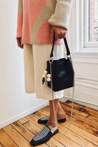 Edun Leather Mini Bucket Bag