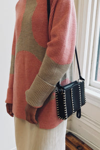 Edun Leather Clutch With Whipstitch