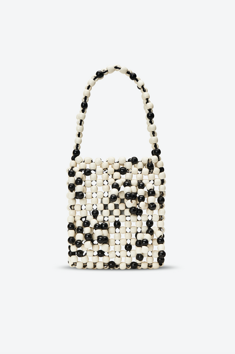 Edun Beaded Fringe Mini Tote Bag