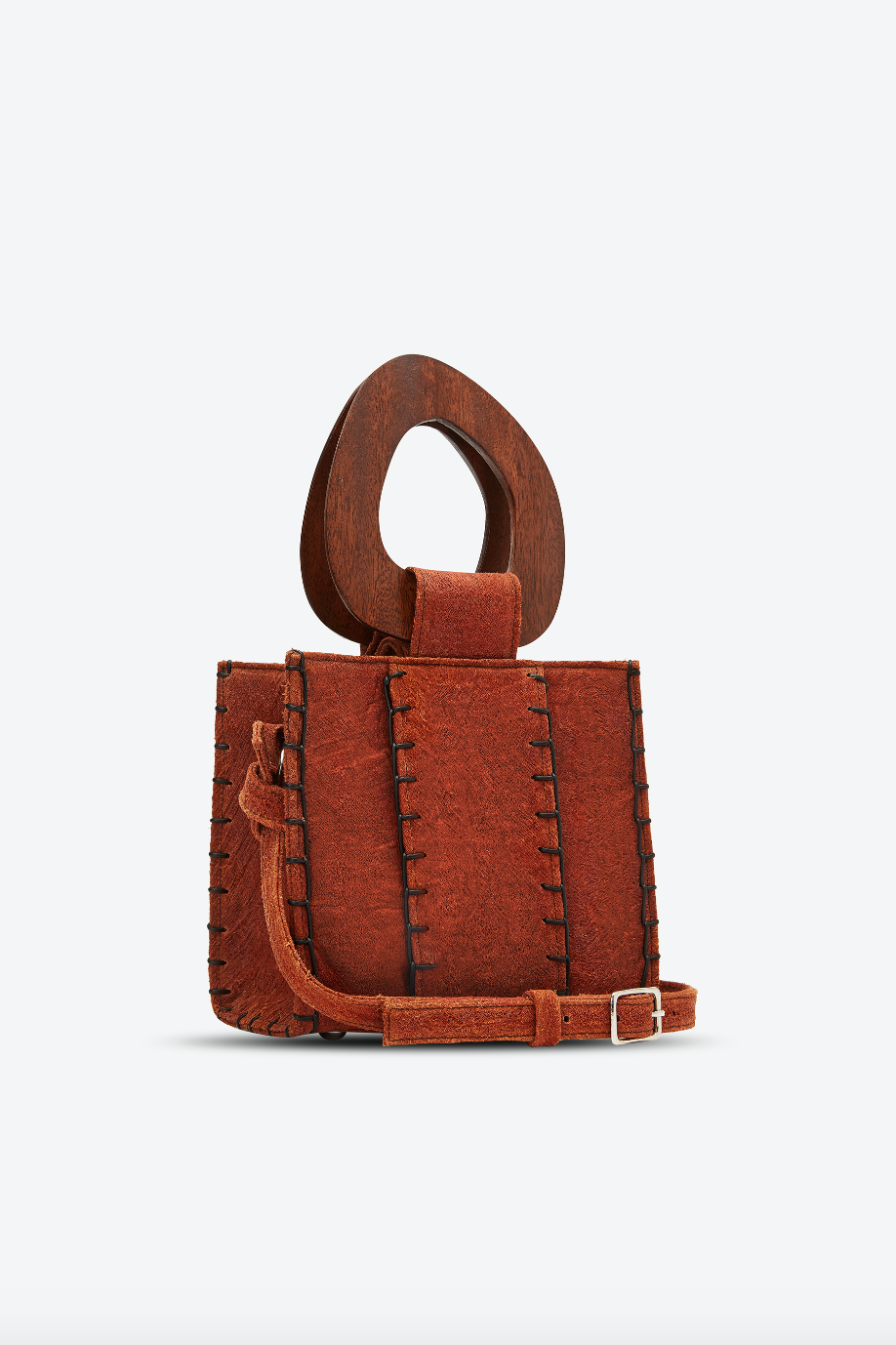 Edun Vegan Bark Bibi Bag