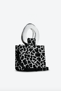 Edun Printed hair-on leather Bibi Bag