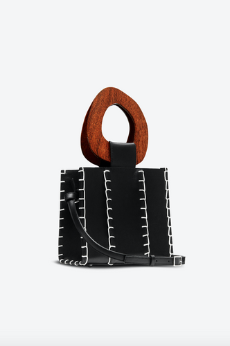 Edun Bibi Bag with Wooden Handles - New*