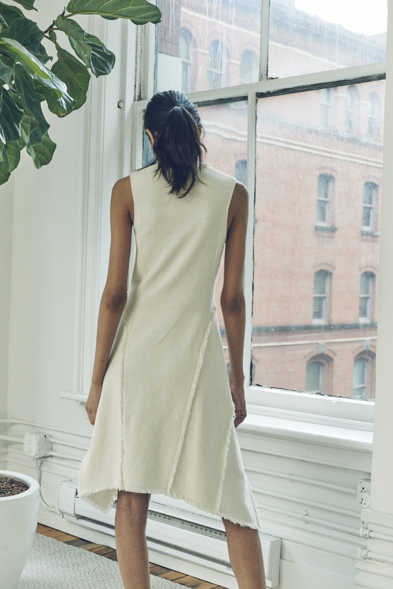 CANVAS LAYERED DRESS