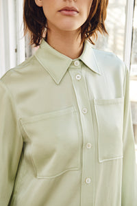 Edun Liquid Satin Button Down Shirt