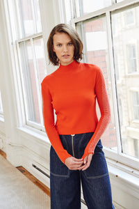 Edun Beaded Compact Viscose Sweater