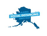 Social Distancing Since 1959 Alaska T-Shirt