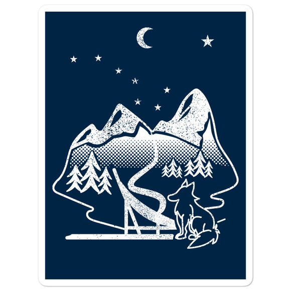 Sled Dog Sticker