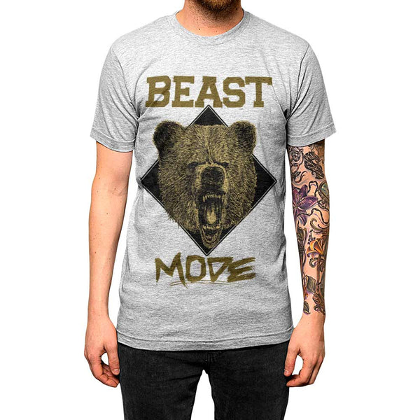 Beast Mode Unisex Tee Athletic Grey