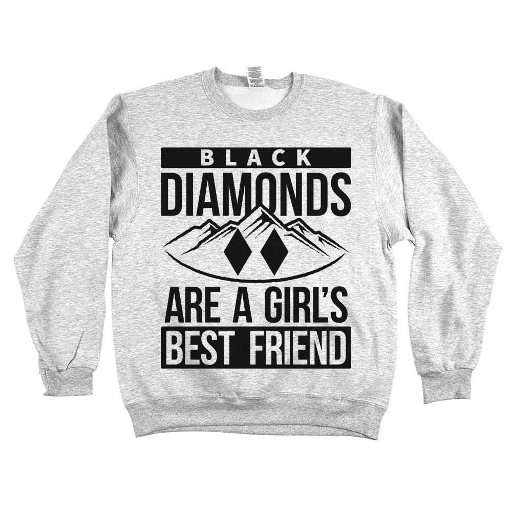 Diamonds Are A Girls Best Friend Unisex Sweatshirt Ash Grey