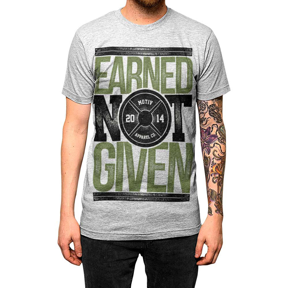 Earned Not Given Unisex Tee Athletic Grey